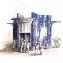 Ведущие архитекторы Come Together, в лондонском районе летняя выставка Керамические & никель киоск / Эрик Пэрри.  Изображение предоставлено Эрик Парри архитекторов