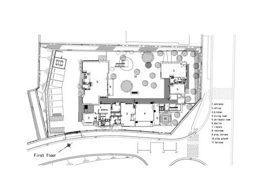 Нижний план этажа
