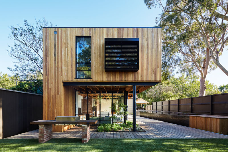 Architecture studio tenfiftyfive have recently completed a wood, glass and steel addition to an old heritage house in Melbourne, Australia.