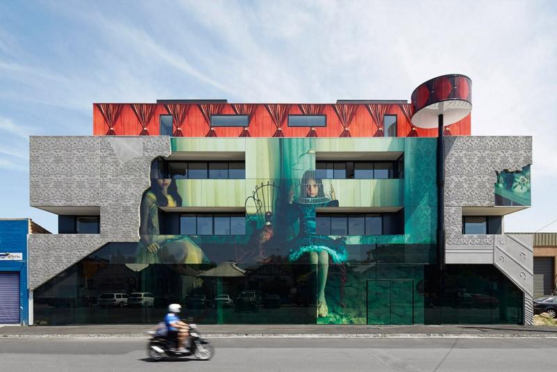Искусство покрыты здание