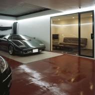 Подземный гараж под коттеджем