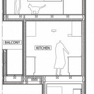 Японский дом в разрезе