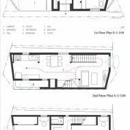 План трехэтажного японского дома
