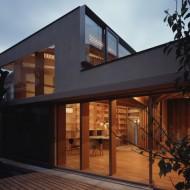 Современная японская архитектура. Двухэтажный городской коттедж