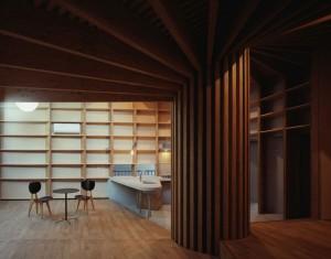 Внутренние интерьеры японского частного дома
