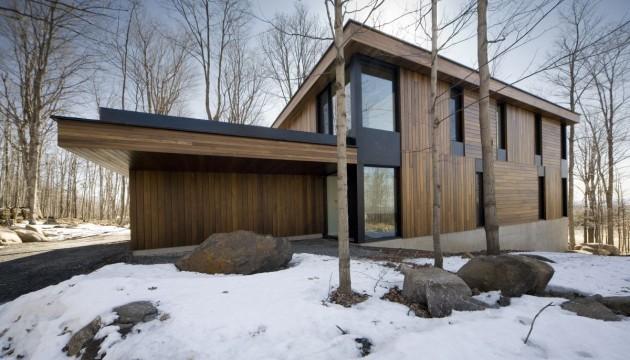 Дом деревянный коттедж для холодного климата