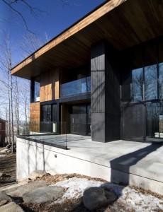Деревянный коттедж. Пример открытого проектирования в холодном климате