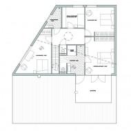 Проект современного коттеджа. План второго этажа.