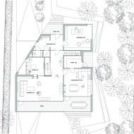 Современный проект коттеджа. План первого этажа.