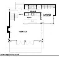 План схема проет коттеджа первый этаж фото с сайта http://www.ecotectura.ru/ строительство и архитектура коттеджей.