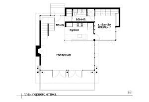 План схема проет коттеджа первый этаж