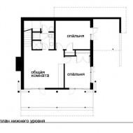 Коттедж расположение комнат вид сверху фото с сайта http://www.ecotectura.ru/ строительство и архитектура коттеджей.