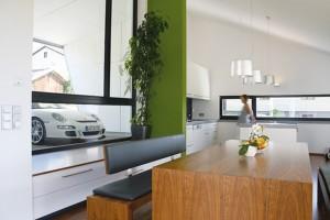 Гостинная кухня в одной открытой студии