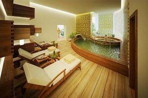 Большая ванная комната в коттедже. Дизайн интерьера