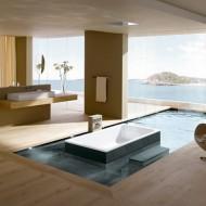 Современная ванная комната в коттедже фото с сайта http://www.ecotectura.ru/ строительство и архитектура коттеджей.