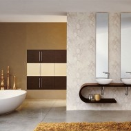 Современный дизайн ванной комнаты в коттедже фото с сайта http://www.ecotectura.ru/ строительство и архитектура коттеджей.