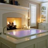 Дизайн внутренних интерьеров коттеджа. Ванная комната в классическом стиле фото с сайта http://www.ecotectura.ru/ строительство и архитектура коттеджей.