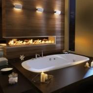 Утопленная ванна в коттедже. Дизайн интерьеров фото с сайта http://www.ecotectura.ru/ строительство и архитектура коттеджей.