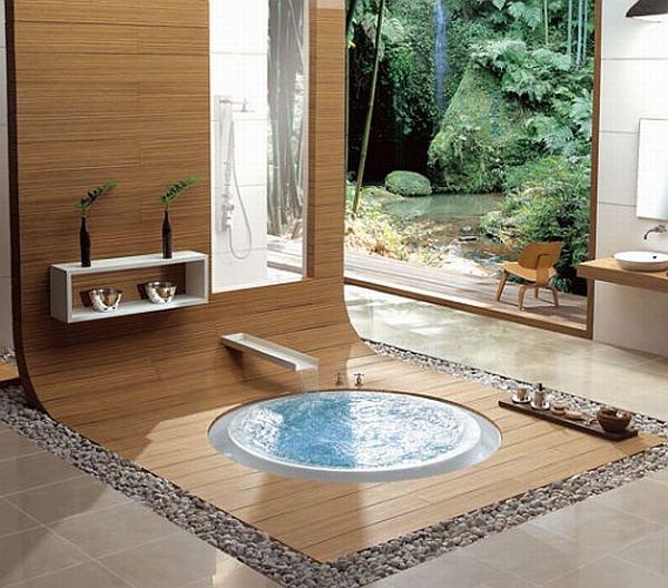 Дизайн ванной комнаты в коттедже фото с сайта  http://www.ecotectura.ru/ строительство и архитектура коттеджей.