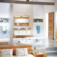 Интерьер ванной комнаты в светлых тонах фото с сайта http://www.ecotectura.ru/ строительство и архитектура коттеджей.
