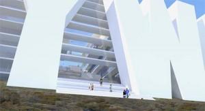 Архитектурный проект. Общий вид сооружения.
