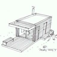 Летний домик из одной комнаты проект