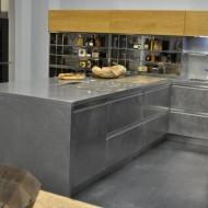 Открытая кухня металлик