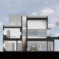 Проект коттеджа в разрезе со всеми жилыми зонами. Проекты коттеджей