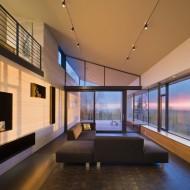 Дизайн интерьера в коттедже. Первый этаж гостиная