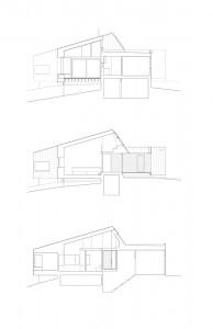 Проект современного одноэтажного коттеджа в разрезе