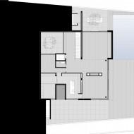 План второго жилого этажа в коттедже