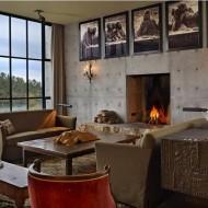 Интерьер гостиной в современном коттедже