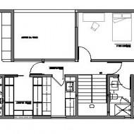 План первого жилого этажа. Проект современного коттеджа
