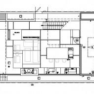 План расположения жилых зон. Проект современного коттеджа