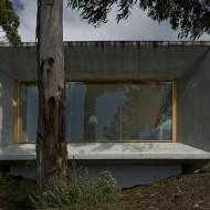 Фасад коттеджа -- гладкая стена из железо-бетона