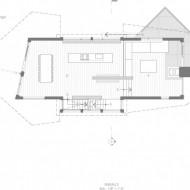 План проект современного коттеджа на чертеже