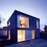 Проект коттеджа кубической формы 2 этажа