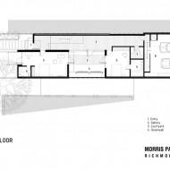 Проект городского коттеджа вид сверху второго этажа с расположением комнат