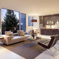 Жилые помещения с панорамным обзором городских окрестностей