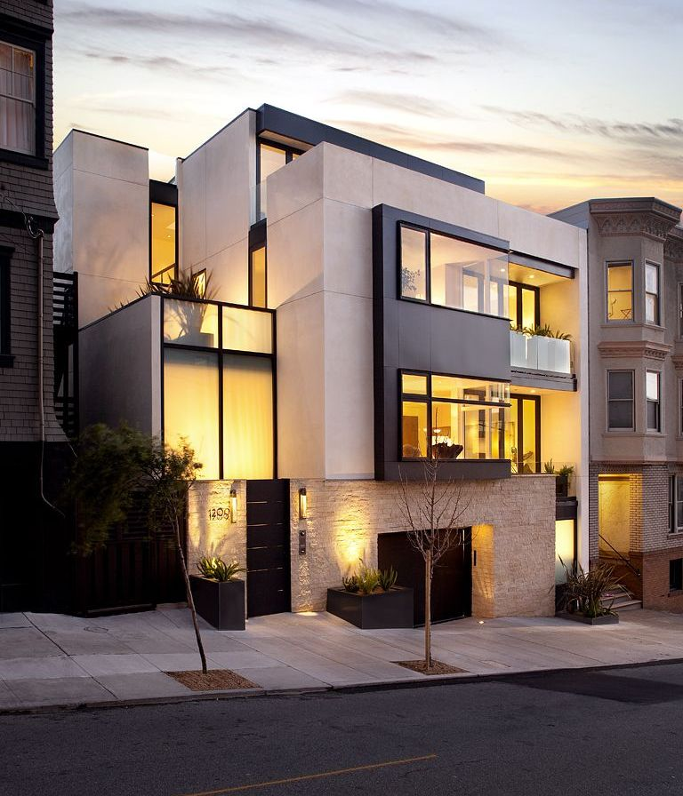 Частная резиденция 4 этажный городской коттедж