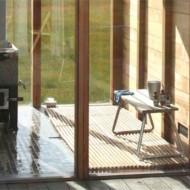 Автономная печка для обогрева щитового домика
