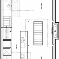 Расположение комнат на плане коттеджа