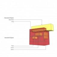 Трехмерное расположение жилых помещений в коттедже