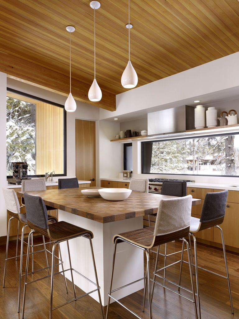 Потолок на кухне дизайн в частном доме