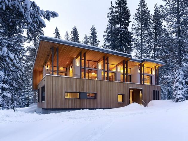 Проект коттеджа прямоугольной формы для холодного климата