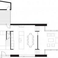 План первого этажа коттеджа и расположение всех комнат