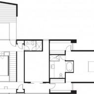 План второго этажа коттеджа с расположением зон
