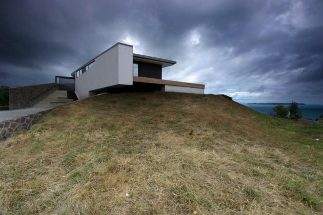 Проект одноэтажного коттеджа вытянутой формы