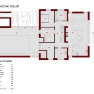 Расположение комнат на первом наземном этаже коттеджа