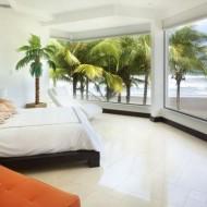 Спальня в коттедже с панорамным обзором